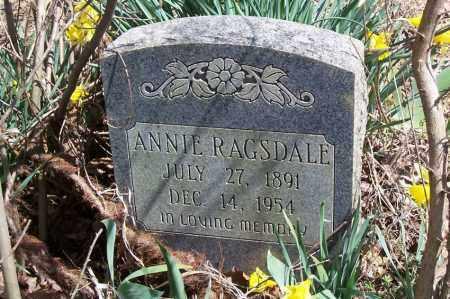 RAGSDALE, ANNIE - Garland County, Arkansas | ANNIE RAGSDALE - Arkansas Gravestone Photos