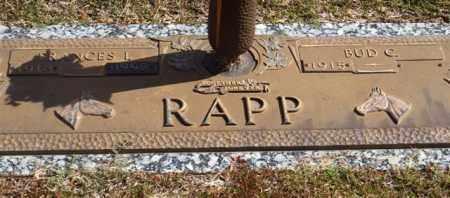 RAPP, FRANCES I. - Garland County, Arkansas | FRANCES I. RAPP - Arkansas Gravestone Photos