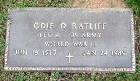 RATLIFF (VETERAN WWII), ODIE D. - Garland County, Arkansas   ODIE D. RATLIFF (VETERAN WWII) - Arkansas Gravestone Photos