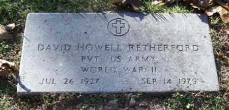 RETHERFORD (VETERAN WWII), DAVID HOWELL - Garland County, Arkansas | DAVID HOWELL RETHERFORD (VETERAN WWII) - Arkansas Gravestone Photos