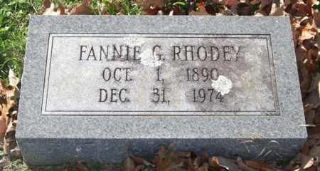 RHODEY, FANNIE G. - Garland County, Arkansas   FANNIE G. RHODEY - Arkansas Gravestone Photos
