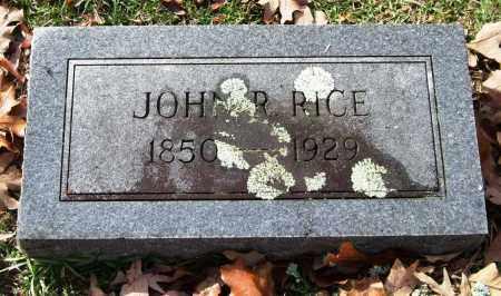 RICE, JOHN R. - Garland County, Arkansas   JOHN R. RICE - Arkansas Gravestone Photos