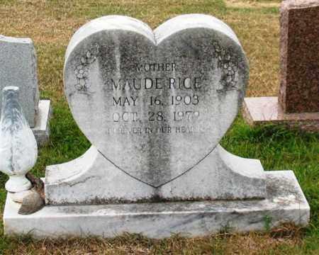 RICE, MAUDE - Garland County, Arkansas | MAUDE RICE - Arkansas Gravestone Photos