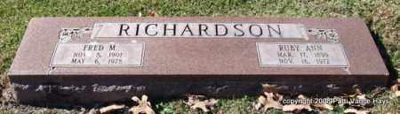 RICHARDSON, FRED M. - Garland County, Arkansas | FRED M. RICHARDSON - Arkansas Gravestone Photos