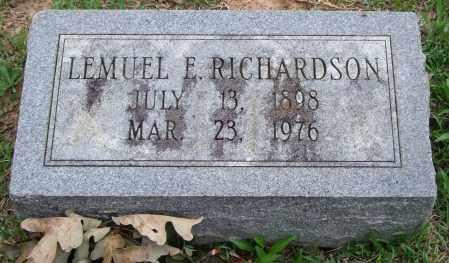 RICHARDSON, LEMUEL E. - Garland County, Arkansas | LEMUEL E. RICHARDSON - Arkansas Gravestone Photos