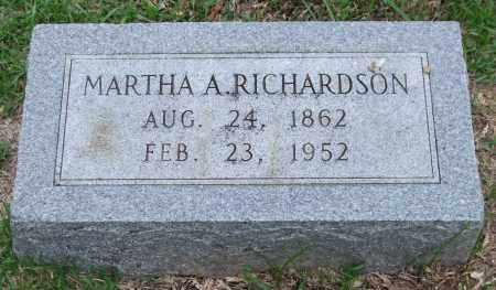RICHARDSON, MARTHA A. - Garland County, Arkansas | MARTHA A. RICHARDSON - Arkansas Gravestone Photos