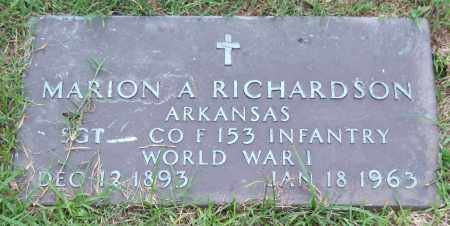 RICHARDSON (VETERAN WWI), MARION A. - Garland County, Arkansas | MARION A. RICHARDSON (VETERAN WWI) - Arkansas Gravestone Photos