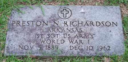 RICHARDSON (VETERAN WWI), PRESTON N. - Garland County, Arkansas   PRESTON N. RICHARDSON (VETERAN WWI) - Arkansas Gravestone Photos