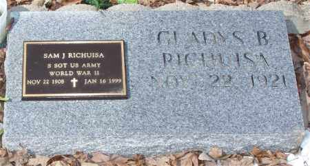 RICHUISA (VETERAN WWII), SAM J. - Garland County, Arkansas | SAM J. RICHUISA (VETERAN WWII) - Arkansas Gravestone Photos