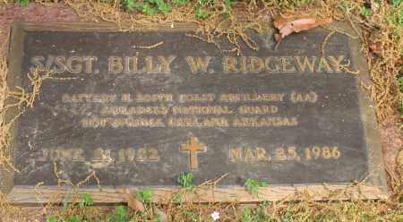 RIDGEWAY, BILLY W. - Garland County, Arkansas | BILLY W. RIDGEWAY - Arkansas Gravestone Photos