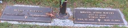 RIEVES, MELVIL JOHN - Garland County, Arkansas | MELVIL JOHN RIEVES - Arkansas Gravestone Photos