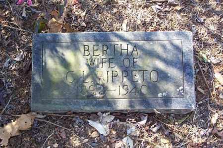 RIPPETO, BERTHA A. - Garland County, Arkansas | BERTHA A. RIPPETO - Arkansas Gravestone Photos