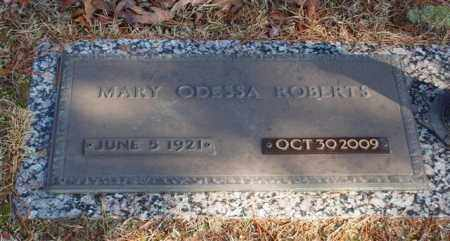 ROBERTS, MARY ODESSA - Garland County, Arkansas | MARY ODESSA ROBERTS - Arkansas Gravestone Photos