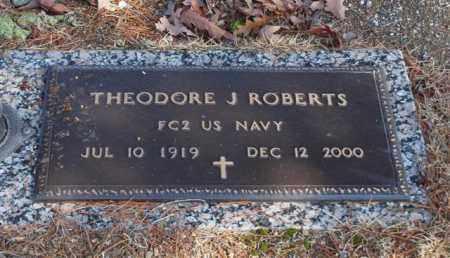 ROBERTS (VETERAN), THEODORE JAMES - Garland County, Arkansas | THEODORE JAMES ROBERTS (VETERAN) - Arkansas Gravestone Photos