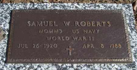 ROBERTS (VETERAN WWII), SAMUEL W - Garland County, Arkansas   SAMUEL W ROBERTS (VETERAN WWII) - Arkansas Gravestone Photos