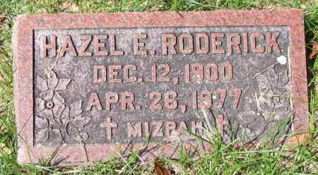 RODERICK, HAZEL E. - Garland County, Arkansas | HAZEL E. RODERICK - Arkansas Gravestone Photos