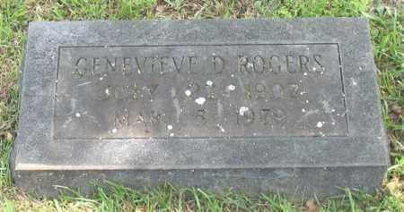 ROGERS, GENEVIEVE D. - Garland County, Arkansas | GENEVIEVE D. ROGERS - Arkansas Gravestone Photos