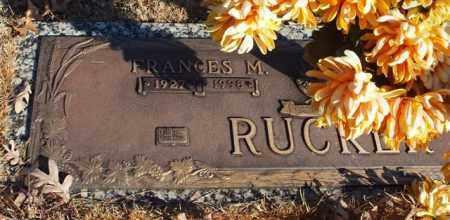 RUCKER, FRANCES M. (CLOSE UP) - Garland County, Arkansas | FRANCES M. (CLOSE UP) RUCKER - Arkansas Gravestone Photos