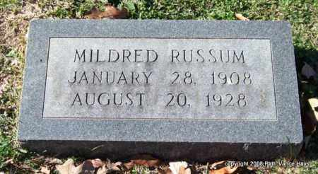 RUSSUM, MILDRED - Garland County, Arkansas | MILDRED RUSSUM - Arkansas Gravestone Photos