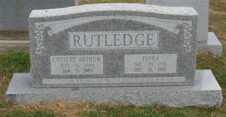 RUTLEDGE, CHESLEY ARTHUR - Garland County, Arkansas   CHESLEY ARTHUR RUTLEDGE - Arkansas Gravestone Photos