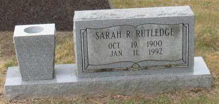 RUTLEDGE, SARAH R. - Garland County, Arkansas | SARAH R. RUTLEDGE - Arkansas Gravestone Photos