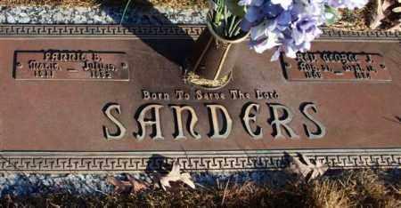 GRANSTAFF SANDERS, FANNIE B. - Garland County, Arkansas | FANNIE B. GRANSTAFF SANDERS - Arkansas Gravestone Photos