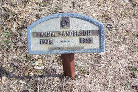SANDERSON, ANNA - Garland County, Arkansas | ANNA SANDERSON - Arkansas Gravestone Photos