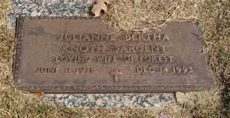 SARGENT, JULIANNE BERTHA - Garland County, Arkansas   JULIANNE BERTHA SARGENT - Arkansas Gravestone Photos
