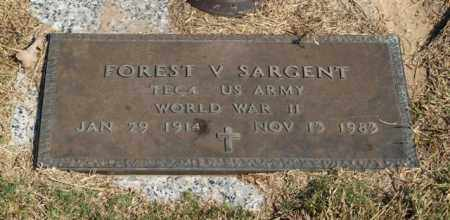SARGENT (VETERAN WWII), FOREST V - Garland County, Arkansas | FOREST V SARGENT (VETERAN WWII) - Arkansas Gravestone Photos