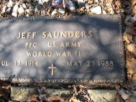 SAUNDERS (VETERAN WWII), JEFF - Garland County, Arkansas   JEFF SAUNDERS (VETERAN WWII) - Arkansas Gravestone Photos
