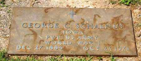 SCHALNUS (VETERAN WWI), GEORGE C - Garland County, Arkansas | GEORGE C SCHALNUS (VETERAN WWI) - Arkansas Gravestone Photos