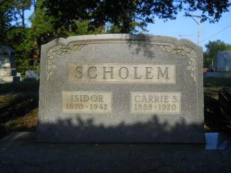 SCHOLEM, CARRIE S - Garland County, Arkansas | CARRIE S SCHOLEM - Arkansas Gravestone Photos