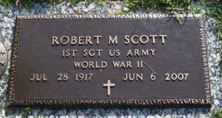 SCOTT (VETERAN WWII), ROBERT M - Garland County, Arkansas   ROBERT M SCOTT (VETERAN WWII) - Arkansas Gravestone Photos