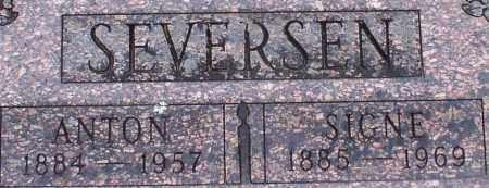 SEVERSEN, ANTON (CLOSE UP) - Garland County, Arkansas   ANTON (CLOSE UP) SEVERSEN - Arkansas Gravestone Photos