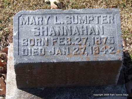 SUMPTER SHANNAHAN, MARY L. - Garland County, Arkansas   MARY L. SUMPTER SHANNAHAN - Arkansas Gravestone Photos