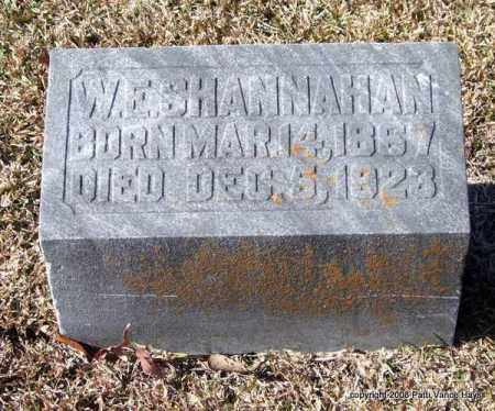 SHANNAHAN, W. E. - Garland County, Arkansas | W. E. SHANNAHAN - Arkansas Gravestone Photos
