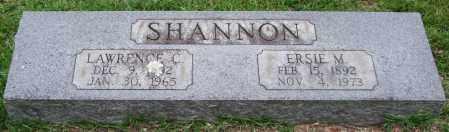 SHANNON, LAWRENCE C. - Garland County, Arkansas | LAWRENCE C. SHANNON - Arkansas Gravestone Photos