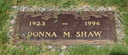 SHAW, DONNA M - Garland County, Arkansas | DONNA M SHAW - Arkansas Gravestone Photos
