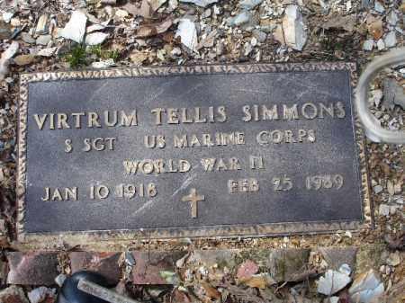 SIMMONS (VETERAN WWII), VIRTRUM TELLIS - Garland County, Arkansas | VIRTRUM TELLIS SIMMONS (VETERAN WWII) - Arkansas Gravestone Photos