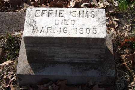 SIMS, EFFIE - Garland County, Arkansas   EFFIE SIMS - Arkansas Gravestone Photos
