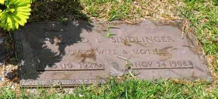 SINDLINGER, MILDRED L. - Garland County, Arkansas   MILDRED L. SINDLINGER - Arkansas Gravestone Photos