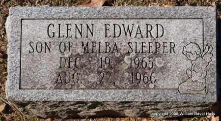 SLEEPER, GLENN EDWARD - Garland County, Arkansas | GLENN EDWARD SLEEPER - Arkansas Gravestone Photos