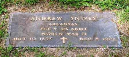 SNIPES (VETERAN WWII), ANDREW - Garland County, Arkansas | ANDREW SNIPES (VETERAN WWII) - Arkansas Gravestone Photos