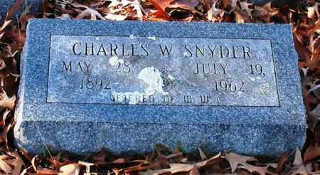 SNYDER (VETERAN WWI), CHARLES W - Garland County, Arkansas | CHARLES W SNYDER (VETERAN WWI) - Arkansas Gravestone Photos