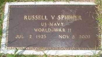 SPICHER (VETERAN WWII), RUSSELL V - Garland County, Arkansas | RUSSELL V SPICHER (VETERAN WWII) - Arkansas Gravestone Photos