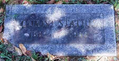 STATHIS, CHRIST - Garland County, Arkansas | CHRIST STATHIS - Arkansas Gravestone Photos