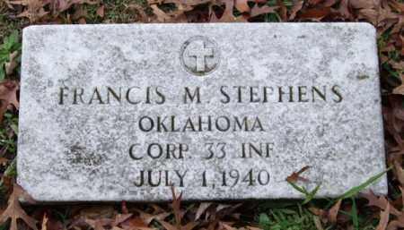 STEPHENS (VETERAN), FRANCIS M. - Garland County, Arkansas   FRANCIS M. STEPHENS (VETERAN) - Arkansas Gravestone Photos