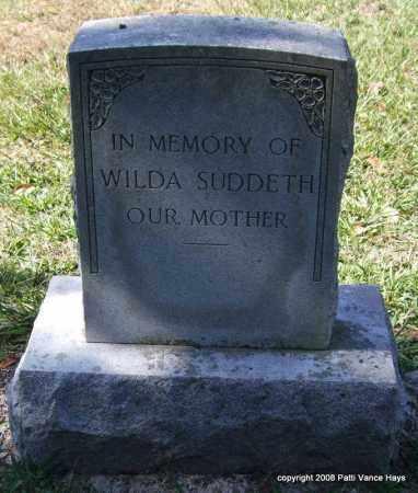 SUDDETH, WILDA - Garland County, Arkansas | WILDA SUDDETH - Arkansas Gravestone Photos