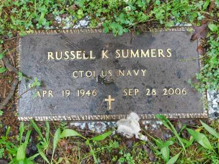SUMMERS (VETERAN), RUSSELL K. - Garland County, Arkansas   RUSSELL K. SUMMERS (VETERAN) - Arkansas Gravestone Photos
