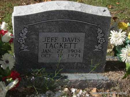 TACKETT, JEFF DAVIS - Garland County, Arkansas | JEFF DAVIS TACKETT - Arkansas Gravestone Photos